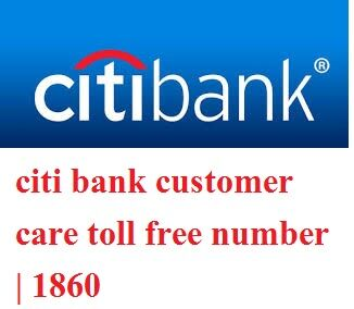 citi bank customer care number