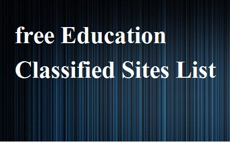 Free Education Classified Sites List 2021