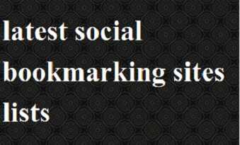 latest social bookmarking sites list 2021
