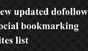 updated dofollow bookmarking site