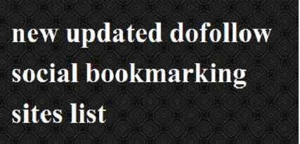 updated dofollow bookmarking site