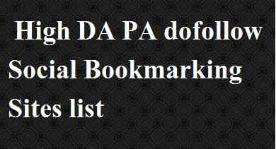 high da Social Bookmarking Sites list