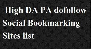 High DA Social Bookmarking Sites list 2021