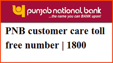 PNB customer care number