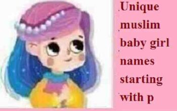 muslim baby girl names starting with p