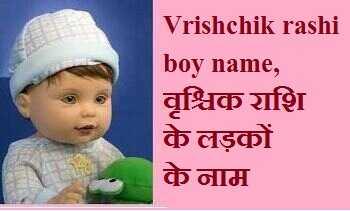 Vrishchik rashi boy name