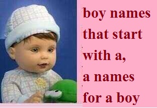 boy names that start with a